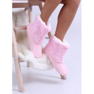 Světle růžové dámské kvalitní pantofle