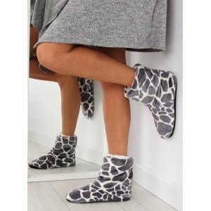 Šedé dámské pantofle z kvalitních materiálů