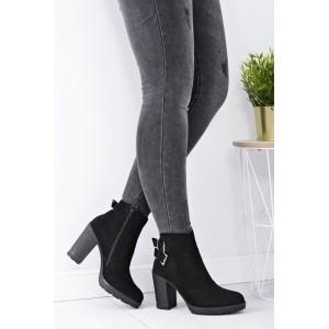 Dámská kotníková obuv černé barvy