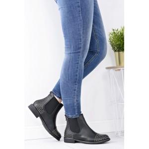 Elegantní dámská kotníková obuv černé barvy