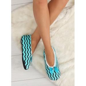 Kvalitní pantofle pro dámy světlo modré barvy
