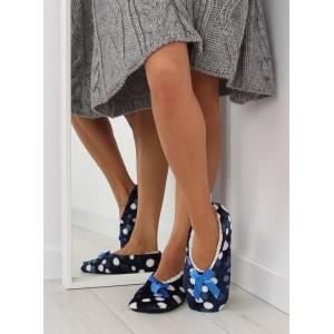 Moderní dámske pantofle v modré barvě