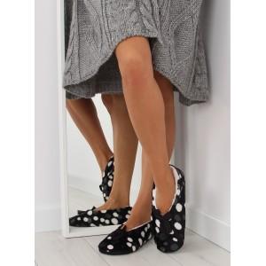 Kvalitní dámské pantofle v černé barvě