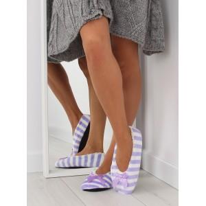 Pohodlní dámské pantofle fialové barvy
