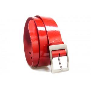 Luxusní pánský opasek červené barvy