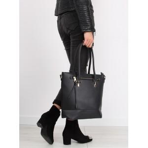 Černé dámské kabelky se zipem