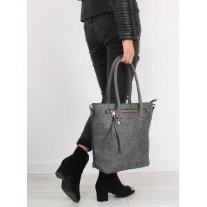 Šedá dámská kabelka na rameno