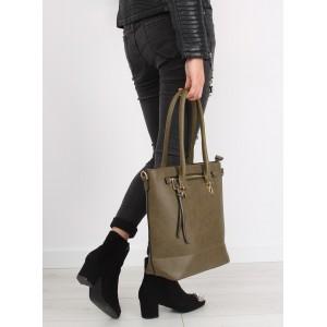 Praktická dámská kabelka zelené barvy