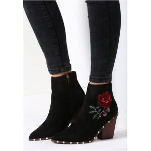 Černé dámské boty na podpatku