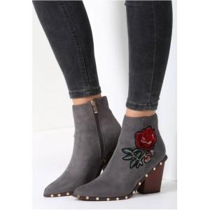 Elegantní dámské boty šedé barvy