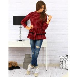 Červeno černá bavlněná košile pro dámy