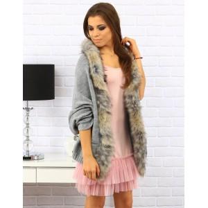 Dámské světle růžové šaty s tylovou skládanou sukní nad kolena s kulatým výstřihem