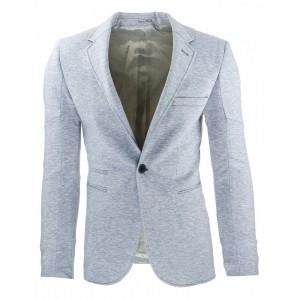 Slim fit sportovní pánské sako šedé barvy vhodné na každou příležitosť