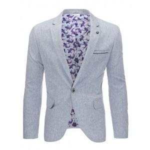 Šedé bavlněné pánské sako s kapsami vhodné na každou spoločenskou událost