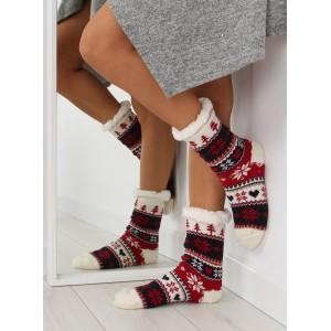Hrubé dámské barevné ponožky v severském stylu
