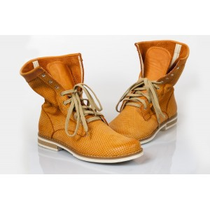 Dámske topánky Pravá koža Farba tekvicová