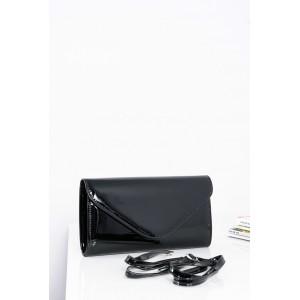 Klasická dámská lakovaná kabelka černé barvy s nastavitelným ramínkem