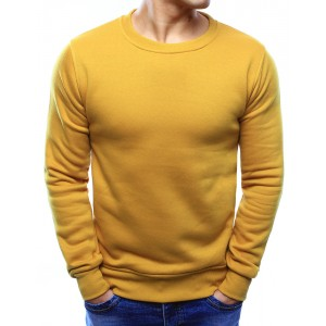 Moderní pánské mikiny ve žluté barvě bez kapuce