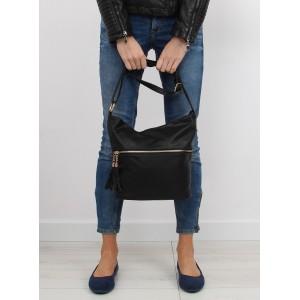 Moderní dámské kabelky na rameno černé barvy