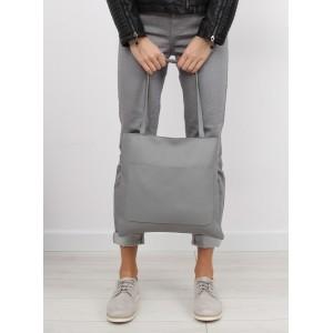 Dámská nákupní kabelka v šedé barvě s taštičkou navíc