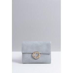 Šedé dámské peněženky se zlatým bočním zipem