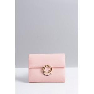 Malá praktická dámská peněženka růžové barvy s ozdobou