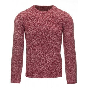 Pohodlné pánské svetry s kulatým výstřihem v bordó barvě