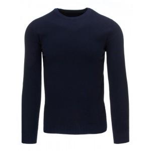 Jednoduchý tmavě modrý pánský svetr na každodenní nošení