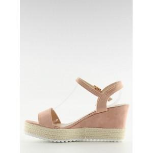 Dámské sandály na platformě v růžové barvě