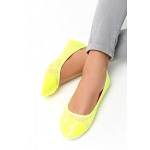 VELIKOST 41 Dámské balerínky žluté barvy