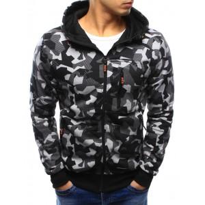 Mikina na zip pánská s kapucí
