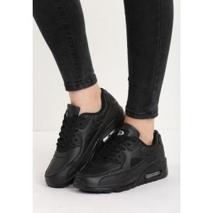 Boty sportovní v černé barvě s tlustou podrážkou