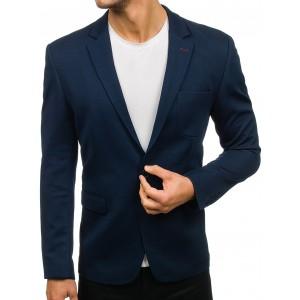Pánské sportovně elegantní sako v modré barvě