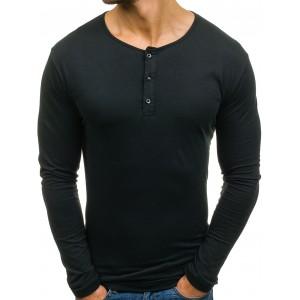 Černé tričko s dlouhým rukávem pro muže