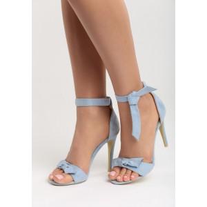 Letní sandály modré barvy