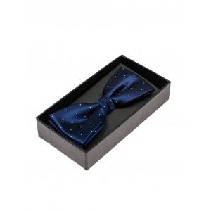 Tmavě modré motýlky pro pány puntíkované