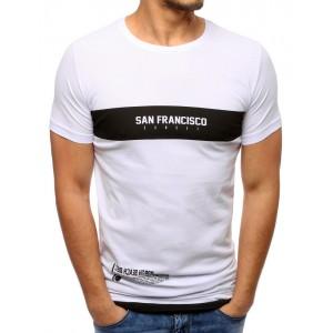 Pánská bavlněná trička bílé barvy