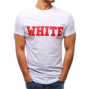 Modní trička bílé barvy