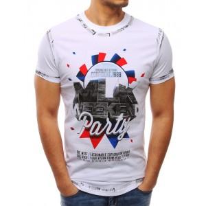 Stylová pánská trička bílé barvy