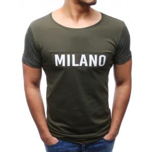 Pánská trička zelené barvy na léto