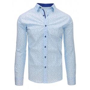 Košile se vzorem v modré barvě