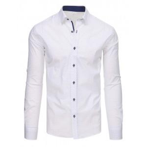 Pánské košile se vzorem bílé barvy