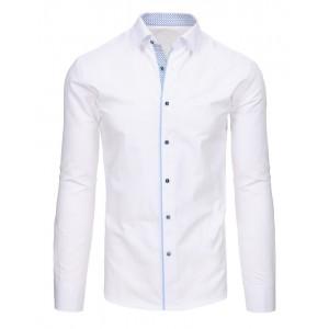 Společenské košile bílé barvy