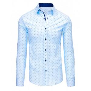 Modrá košile pánská se vzorem