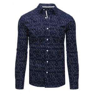 Chlapecká košile tmavě modré barvy