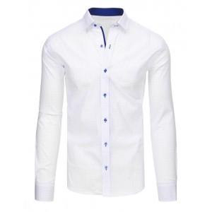 Pánská bílá košile s dlouhým rukávem