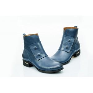 Dámské kožené boty tmavě modré DT476
