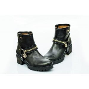 Dámské kožené boty černé DT452