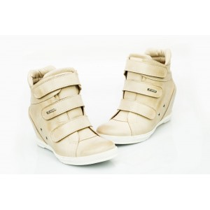 Dámské kožené boty béžové DT224