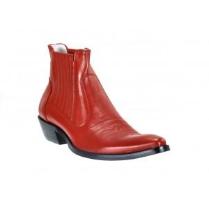 Pánské kožené kovbojky červené